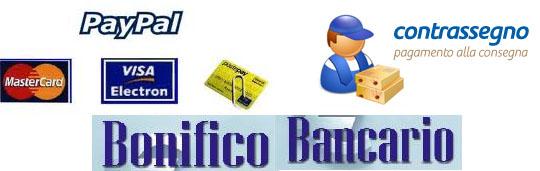 pagamenti postepay bonifico bancario paypal contrassegno